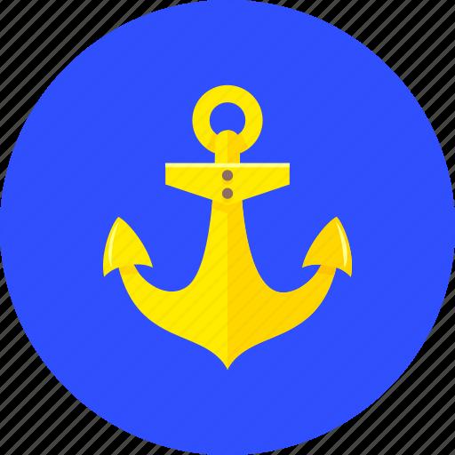 anchor, boat, marine, nautical, navigation, sea, ship icon