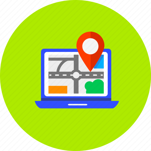 computer, direction, gps, location, map, navigation, pointer icon