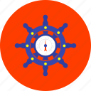 boat, guidance, helm, marine, rudder, ship, transport icon