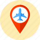 airplane, flight, fly, jet, map, map symbol, plane icon