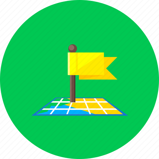 direction, flag, location, marker, navigation, pin, pointer icon