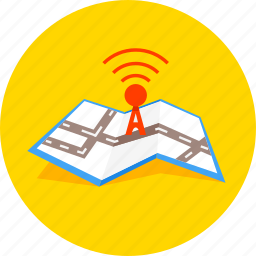 antenna, communication, gps, map, navigation, radar, signal icon