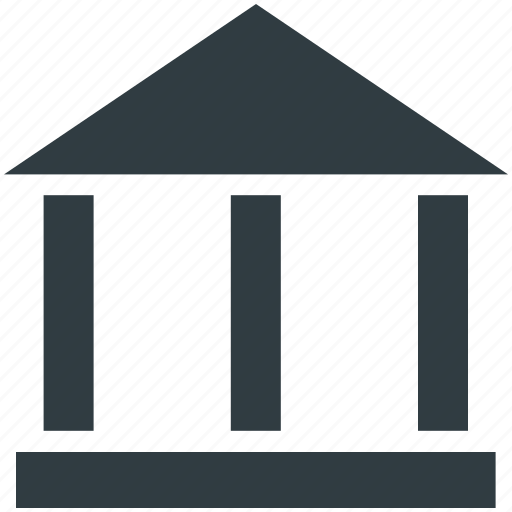 Bank, bank building, court, courthouse, real estate icon - Download on Iconfinder