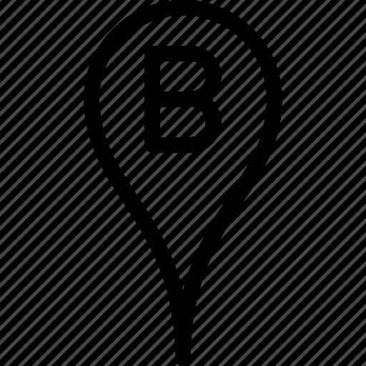 b, gps, location, map, navigation icon