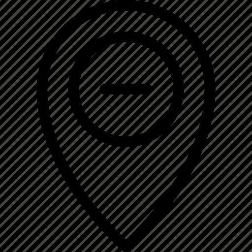 gps, location, map, navigation, remouve icon