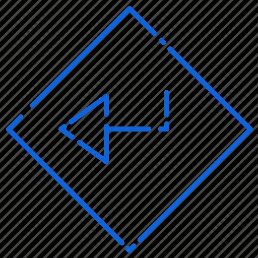 arrow, board, left, road, sign icon
