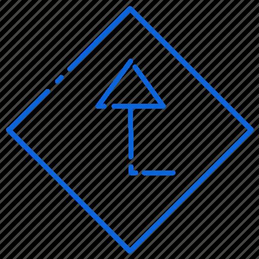 arrow, board, road, sign, up icon