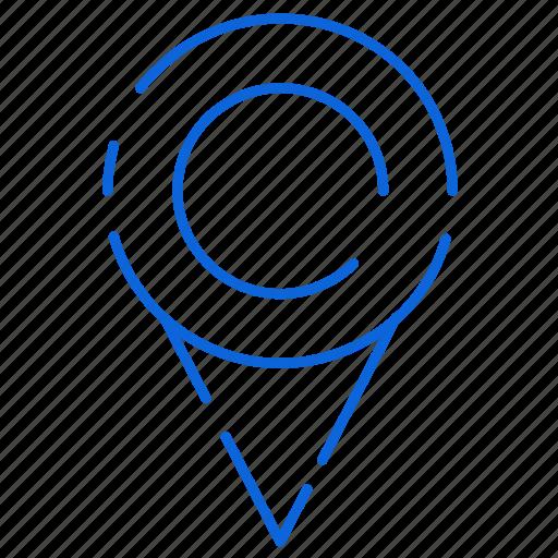 gps, loaction, map, marker, pin icon