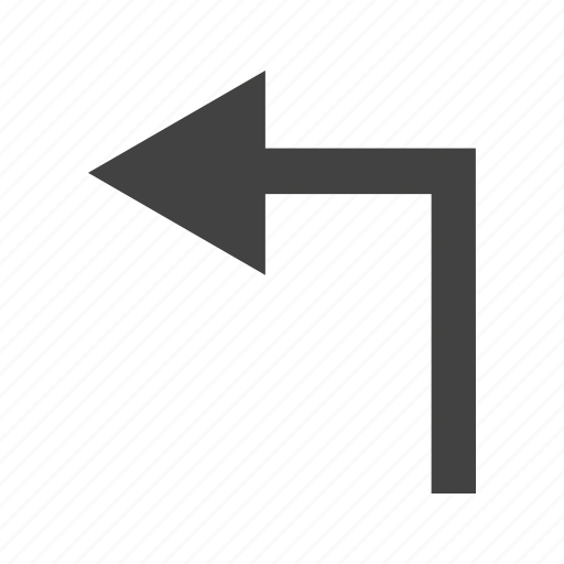 arrow, direction, left, path, road, sign, turn icon