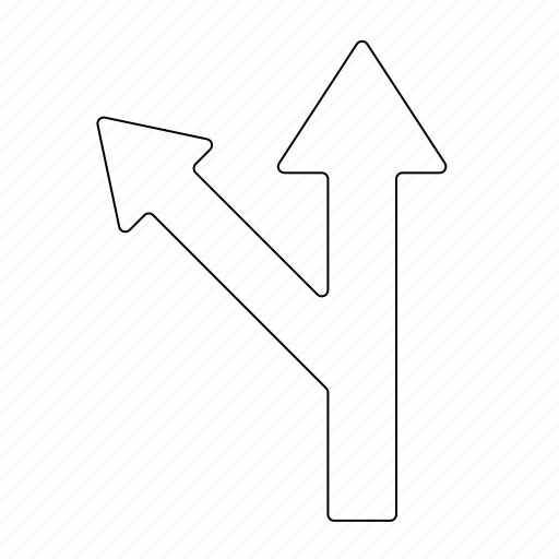 ahead, arrow, curve, direction, equipment, left, navigation icon