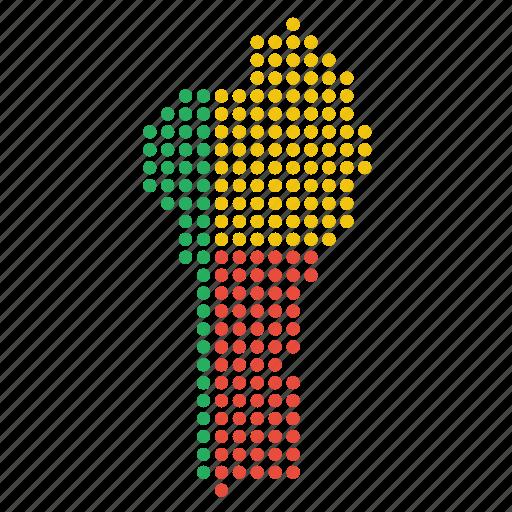 benin, beninese, country, map icon