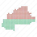 burkina, country, faso, map icon