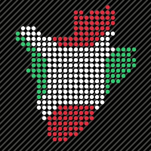 burundi, country, map icon