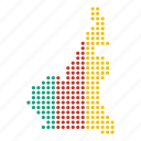 cameroon, cameroonian, country, map icon