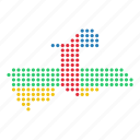 african, central, country, map, republic icon