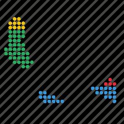 comoros, country, map icon