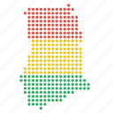 country, ghana, map icon