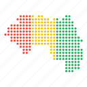 country, guinea, guinean, map icon