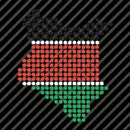 country, kenya, kenyan, map icon