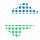 country, lesotho, map icon
