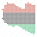 country, libya, libyan, map icon