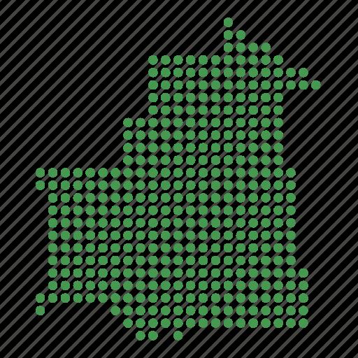 country, map, mauritania, mauritanian icon