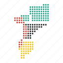 country, map, mozambique icon
