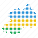 country, map, rwanda icon