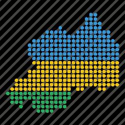 country, map, rwanda icon