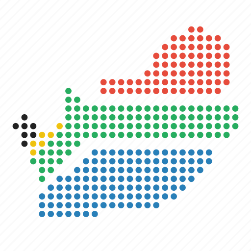 africa, african, country, map, south icon