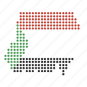 country, map, sudan, sudanese icon