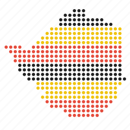 country, map, zimbabwe icon