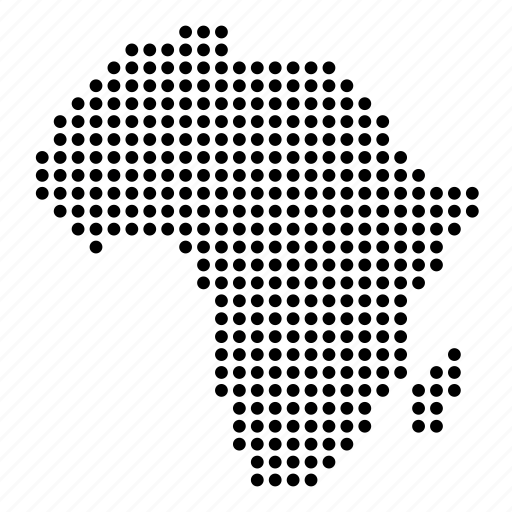 africa, african, continent, map icon