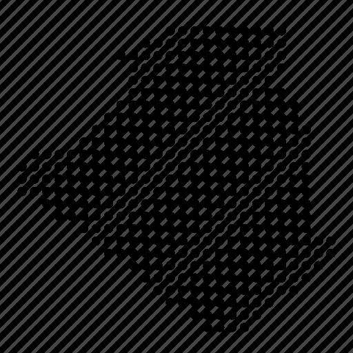 algeria, algerian, country, map icon