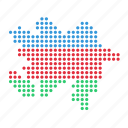 azerbaijan, country, map icon