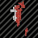 bahrain, bahraini, country, map