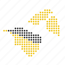 brunei, country, map icon