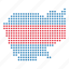 cambodia, cambodian, country, map icon