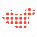 china, chinese, country, map icon