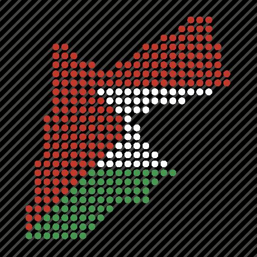 country, jordan, jordanian, map icon