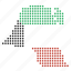 country, kuwait, map icon