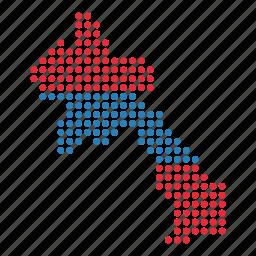 country, laos, laotian, map icon