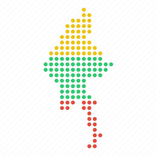 burma, burmese, country, map, myanmar icon
