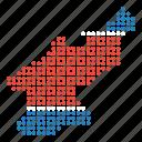 country, korea, korean, map, north