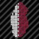 country, map, qatar, qatari icon