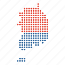 country, korea, korean, map, south icon