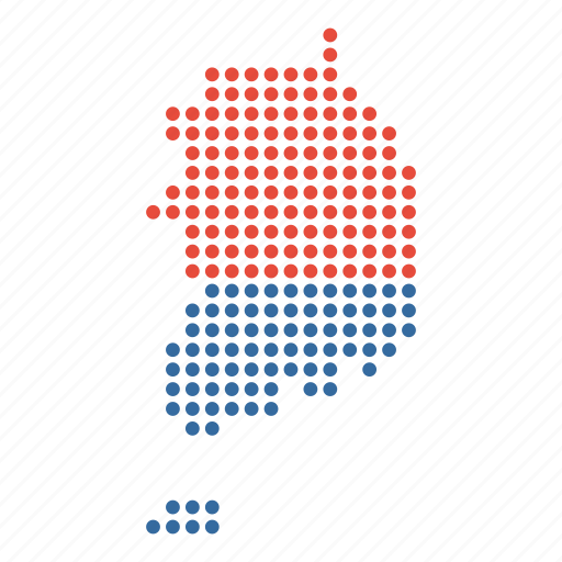 country, korea, korean, map, south icon