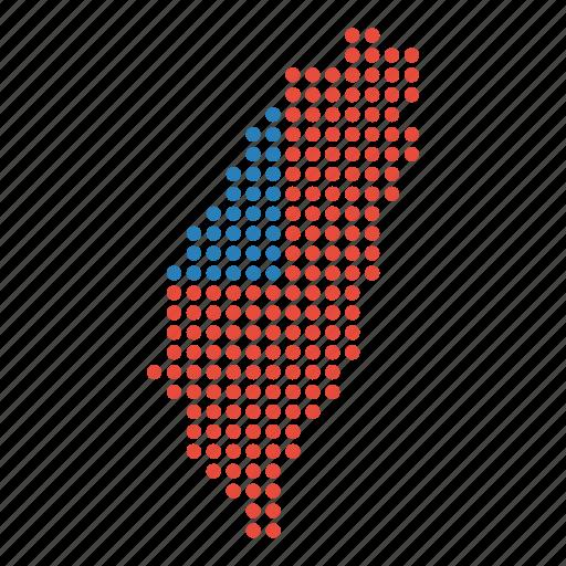 country, map, taiwan, taiwanese icon
