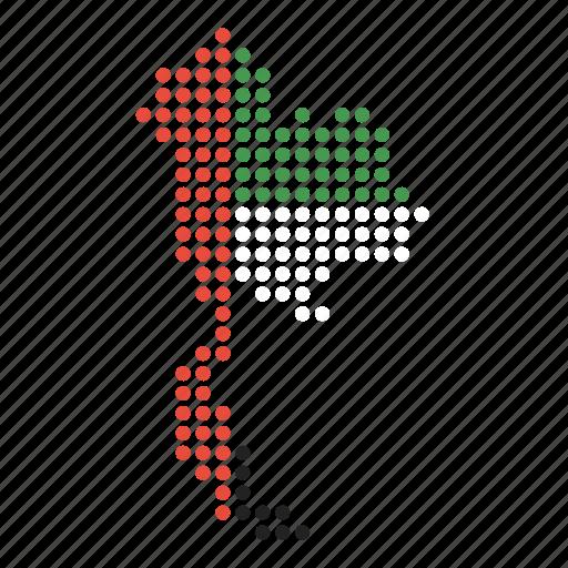 country, map, thai, thailand icon