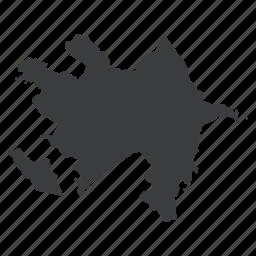 azerbaijan, country, gps, location, map, navigation icon